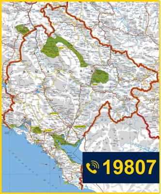 Bosne gore karta crne i Karta Crne